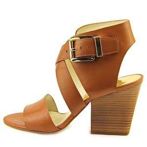 NEW Michael Kors Brown Leather Adriana Sandal